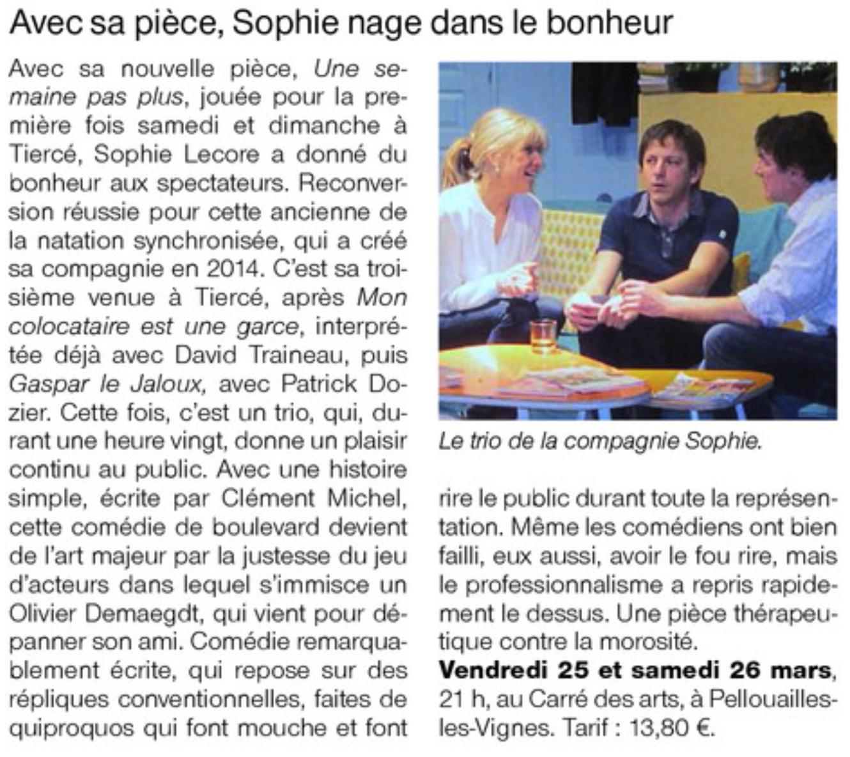 Ouest France Une semaine pas plus 16 mars 2016 v2